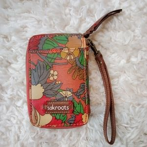 Handbags - NWOT! Sakroots Floral Zip Around Wristlet Wallet